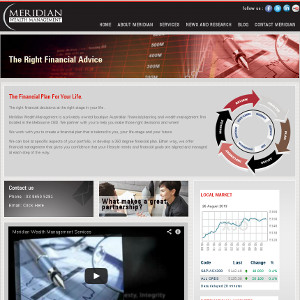 web design Meridian Wealth